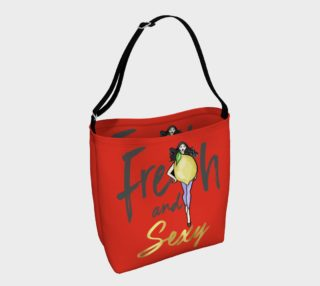 Lemon Fresh & Sexy (Red Tote Bag preview