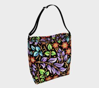 Filigree Floral Tote Neoprene Bag aperçu