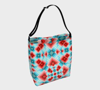 Groovy Argyle Tote Bag small print preview