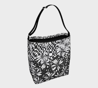 Floral Harlequin Polkadot Tote Bag preview