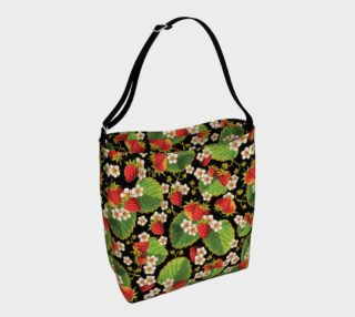 Aperçu de Strawberries on Black Day Tote Bag