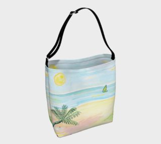 Aperçu de Beach Day Watercolor Day Tote