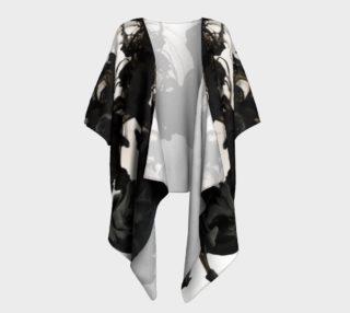 Black Ink Draped Kimono preview