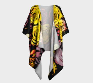 Flowers Roses draped kimono preview