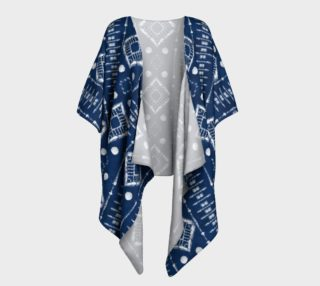 Faux Shibori Ladder in Navy Blue and White preview