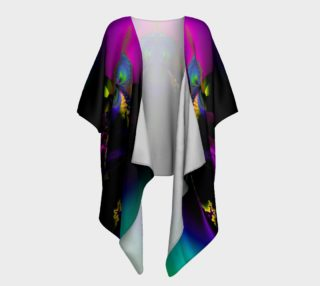 Rainbow Fractal draped kimono preview