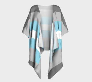 Demiboy LGBT Draped Kimono robe preview