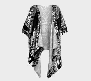 Landscape Art Robe Black & White Forest Draped Robe preview