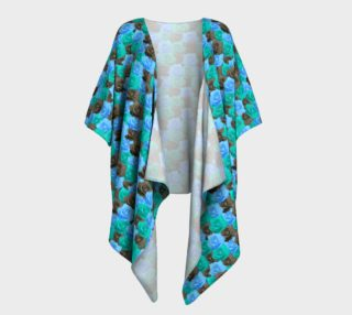 Blue Roses Draped Kimono preview