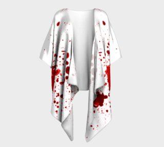 Blood Splatter One Draped Kimono preview