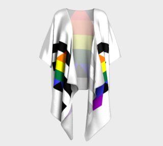 Ally LGBT Draped Kimono preview