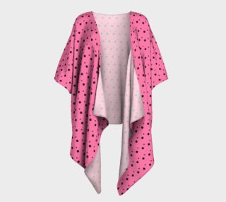 Tracks Bubble Gum Draped Kimono preview