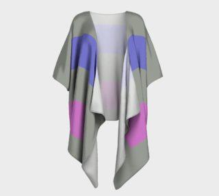 Androgynous Pride Draped Kimono preview