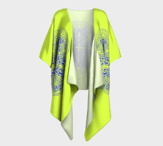 Yellow kimono with Mongolian ornament preview