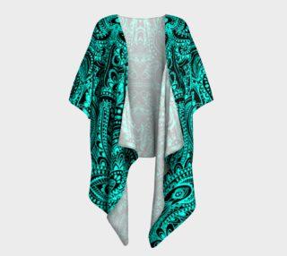 Neon henna drapped kimono preview