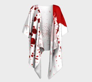 Blood Splatter First Cosplay Halloween Draped Kimono preview