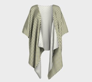 GREY & LINEN CHECK DRAPED KIMONO preview