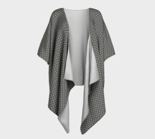 GREY & LINEN LIGHT POLKA DRAPED KIMONO preview