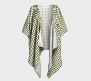 GREY & LINEN PLAID DRAPED KIMONO preview