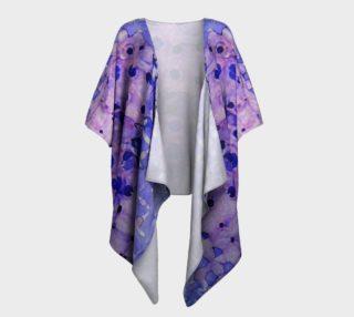 Purple Grid Ink #2 Draped Kimono preview
