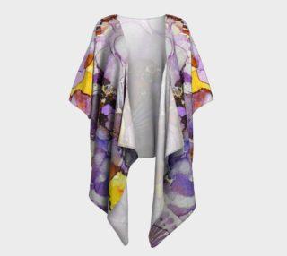 Fanburst Ink #3 Draped Kimono preview
