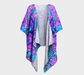 Violet Clouds Ink #24 Draped Kimono preview