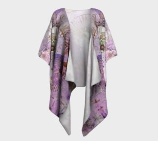 Lavender Afternoon Ink #6 Draped Kimono preview