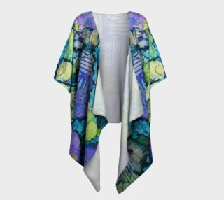 Spring Weave Ink #4 Draped Kimono preview