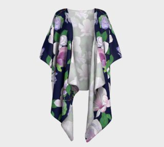 Magnolia Floral Frenzy Draped Kimono preview