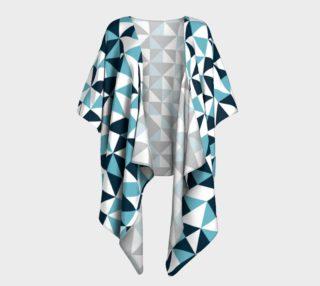 Blue Triangles Draped Kimono preview
