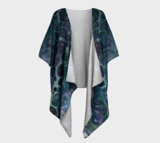 Water Scales Draped Kimono preview
