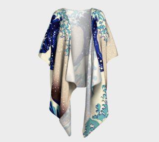 Katsushika Hokusai The Great Wave Off Kanagawa Draped Kimono  preview