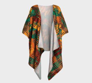Abstract Animal Stripes Draped Kimono preview
