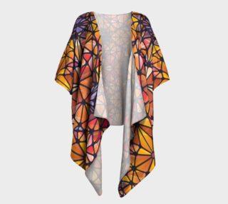 Amber Kaleidoscope Draped Kimono preview