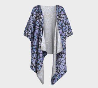 Purple and Blue Kaleidoscope Draped Kimono preview