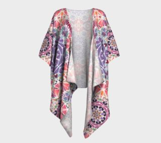 Purple and Pink Kaleidoscope Draped Kimono preview