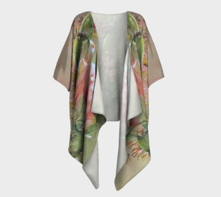 Peach Cactus Flower Draped Kimono preview