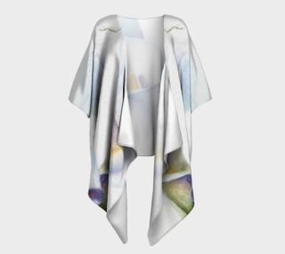 White Calla Lilies Draped Kimono preview