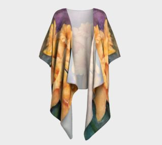 Yellow Daffodils Draped Kimono preview