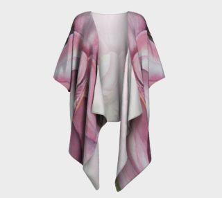 Exotic Pink Orchid Draped Kimono preview