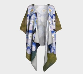 Forget-me-not Flowers Draped Kimono preview