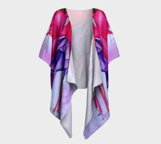 Fashionable Fuchsia Flowers Draped Kimono preview