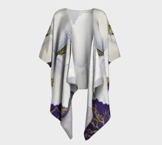 White Gladiola Draped Kimono preview