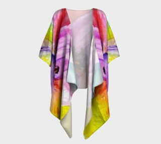 Neon Colored Lily Draped Kimono preview