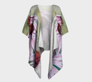 Pink Echinacea Flowers Draped Kimono preview