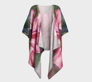 Pink Hibiscus  Draped Kimono preview