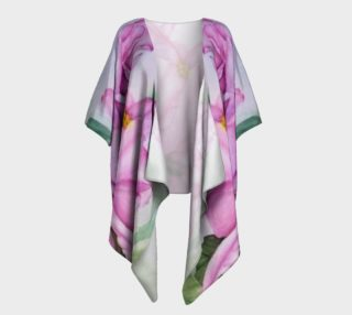 Tropical Pink Orchid Draped Kimono preview