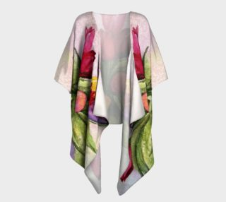 Colorful Tulip Bouquet Draped Kimono preview