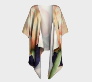Yellow Tulips Draped Kimono preview