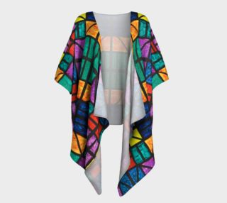 Detroit Stained Glass Draped Kimono preview